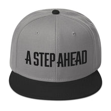 Load image into Gallery viewer, A Step Ahead - Snapback Hat (Black Thread)