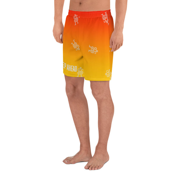 A Step Ahead Sunrise - Men's Athletic Long Shorts