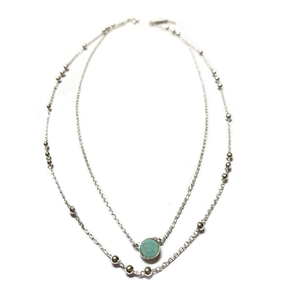Collier double N° 2 - Amazonite