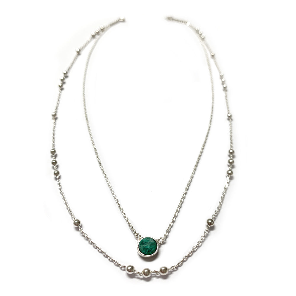 Collier double N° 2 - Chrysocolle