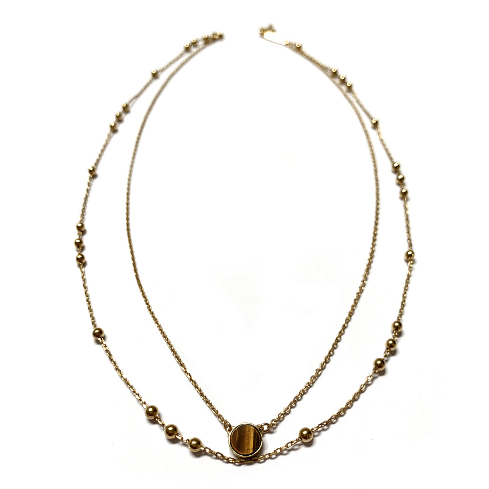 Collier double N° 2 - Œil-de-tigre