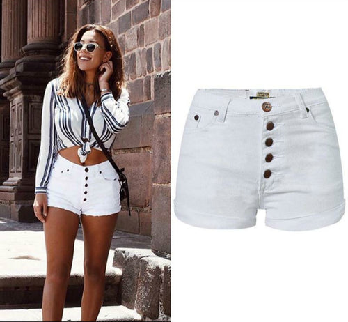 BeachWearPlus® High Waist White Board Shorts Women