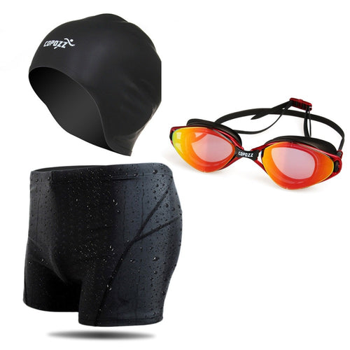 BeachWearPlus® 3-in-1 Swimming Set - Shorts-Goggles-Cap for Men