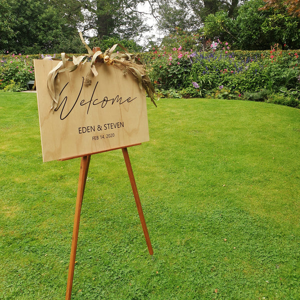 Wedding signage | Welcome
