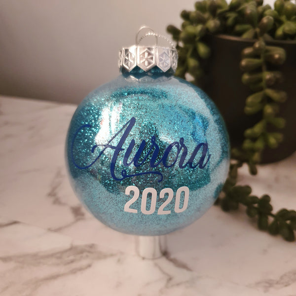 Personalised | Glitter bauble