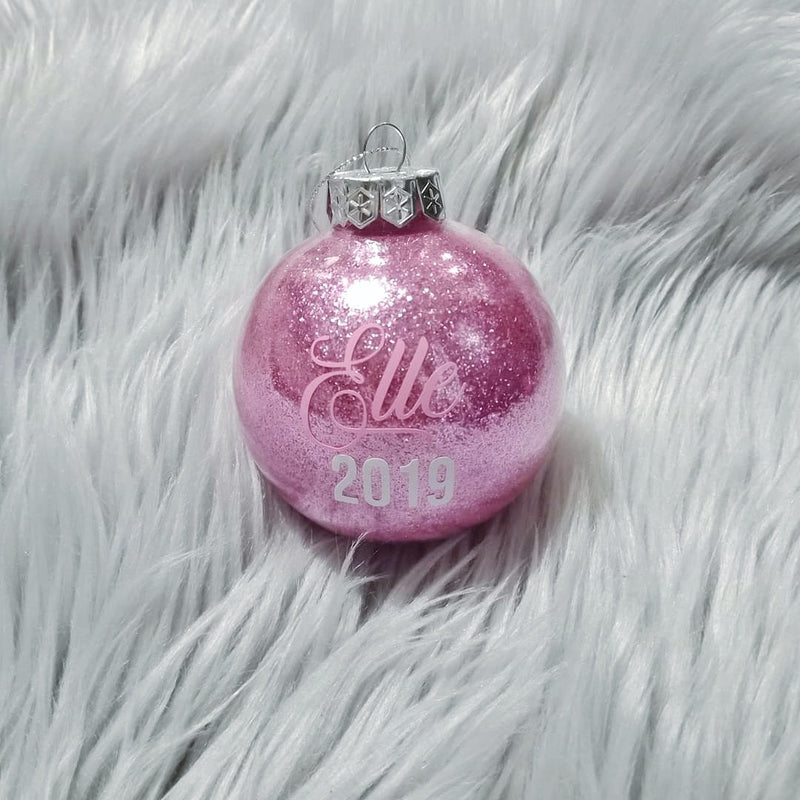 Personalised Glitter bauble | Christmas