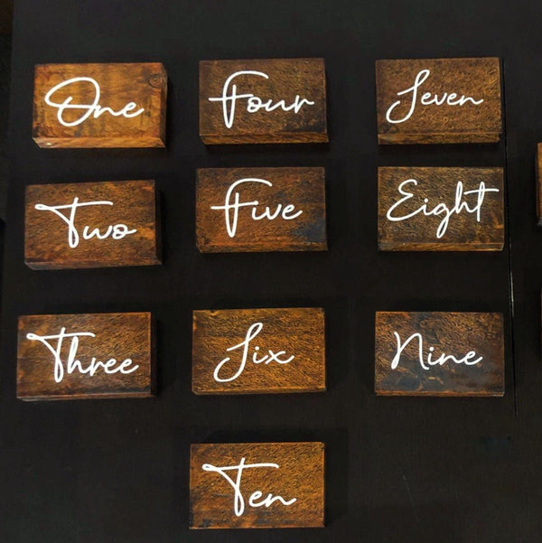 Table numbers | Wedding signage