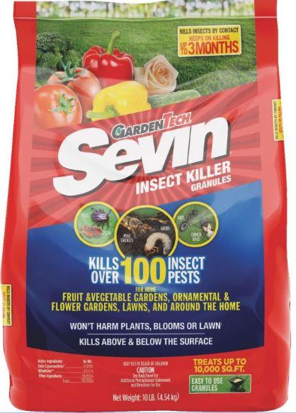 Sevin Brand - Insect Granules w/Zeta Cypermethrin and Bifenthrin - 10 lb.