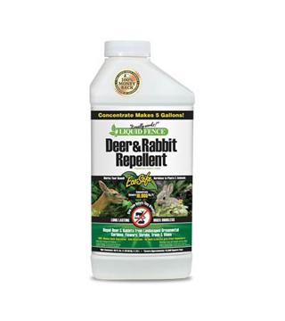 Liquid Fence - Deer and Rabbit Repellent - Conc. - 40 oz. - Makes 5 gal.
