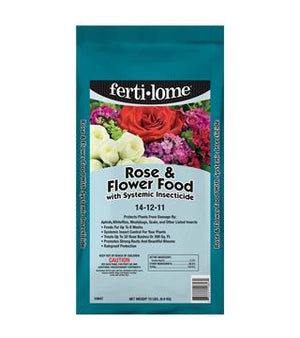 Fertilome - Rose and Flower Food with Systemic Insecticide - 14-12-11 - 15 lb.