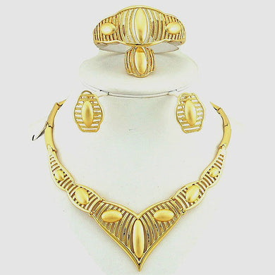 FIne High Quality  24K Gold Plating fine Jewelry Sets