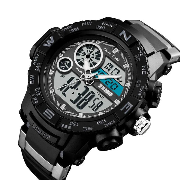Sport Dual Display Sports Wristwatches Waterproof Watch - 1332