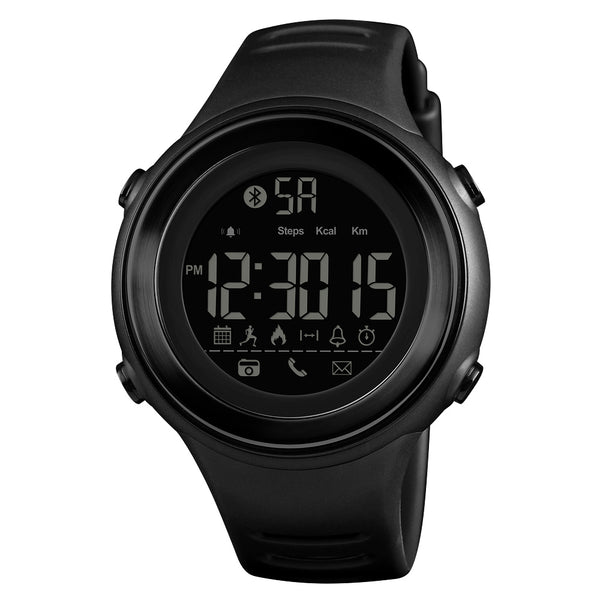 Smart Sport Digital Bluetooth Watch - Skmei 1396 Black/Silver