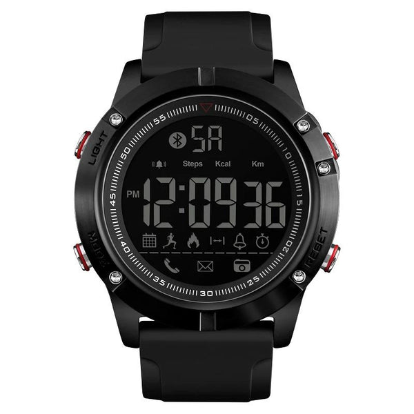 Smart Watch Chrono Data Calories Pedometer Multi-Functions Sports Watches Reminder Digital Wristwatches -1425 - Black