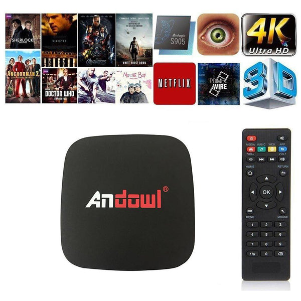 Android Tv Box 9.0 With Free backLite Keyboard 2Gb-Ram/16Gb Storage - Q4