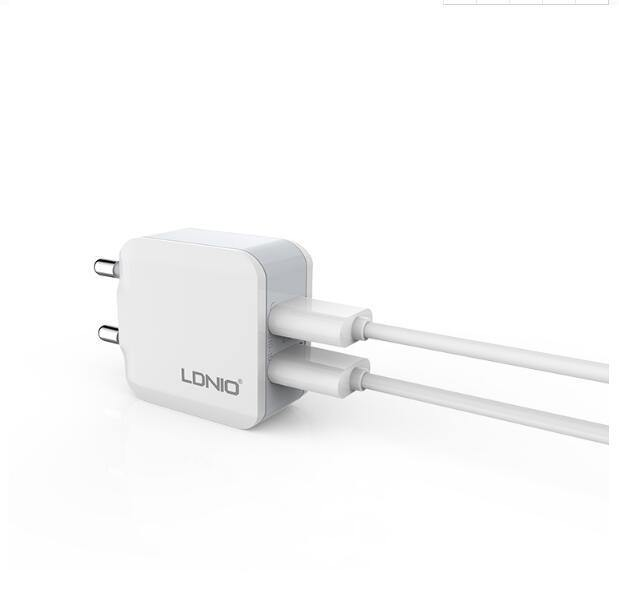 2 USB Smart Travel Adapter Wall Portable Charger - Ldnio A2201 - WooTech Online Shopping