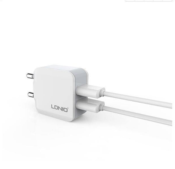 2 USB Smart Travel Adapter Wall Portable Charger - Ldnio A2201