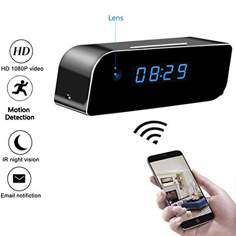 Wireless Mini Wifi Hidden Clock Camera View it from Mobile