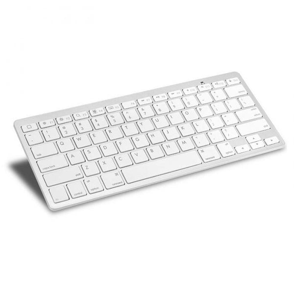 Ultra-slim Wireless 3.0 Bluetooth Keyboard For PCs, Apple Series & Android Devices - White - WooTech Online Shopping
