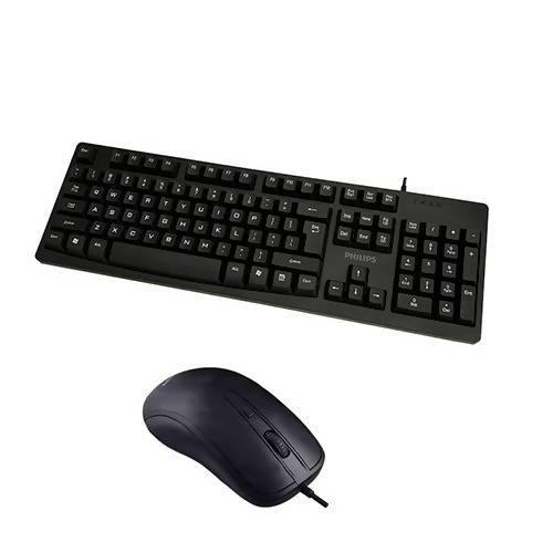 Philips wired keyboard and mouse - C214