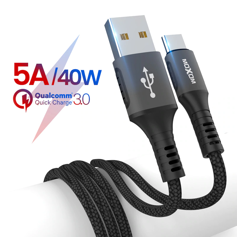 Type C USB Data Cable 5.0A Super Fast Charging USB Data Cable - Moxom CC-82