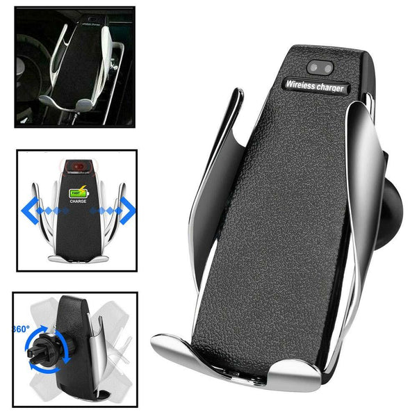 Smart Sensor Wireless Fast car Charger  with 360 Rotation