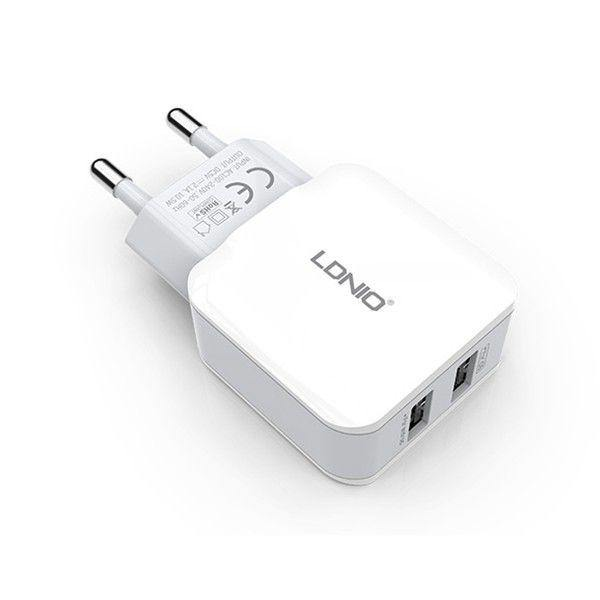LDNIO Dual USB Travel Wall Charger Power Adapter (A2202) - WooTech Online Shopping