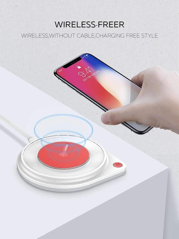 10W Fast Wireless Charger  Built-in Bedside Lamp Qi Quick Charging Pad - AW001