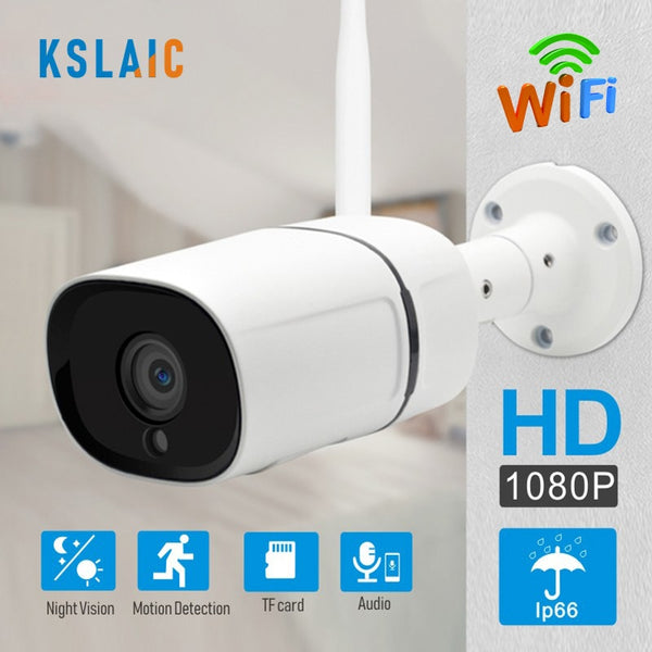 Smart IP Camera WIFI 1080P waterproof wireless CCTV night vision Two-Way Audio - WooTech Online Shopping
