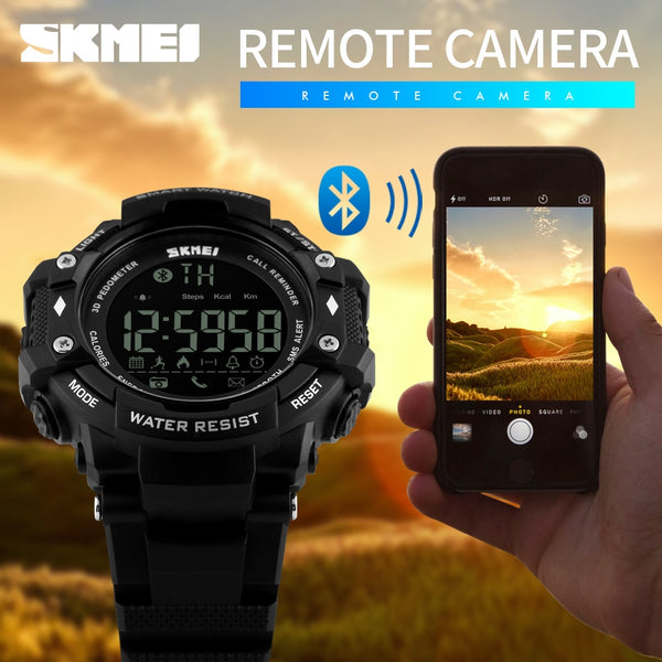 SKMEI Brand Men Smart Sports Watches Fashion Call Message Reminder Pedometer Calories Bluetooth Waterproof Wristwatches 1226