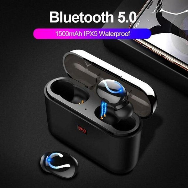 Bluetooth Sport Earbuds TWS Bluetooth 5.0 Stereo Headphone  - HBQ-Q32 - WooTech Online Shopping