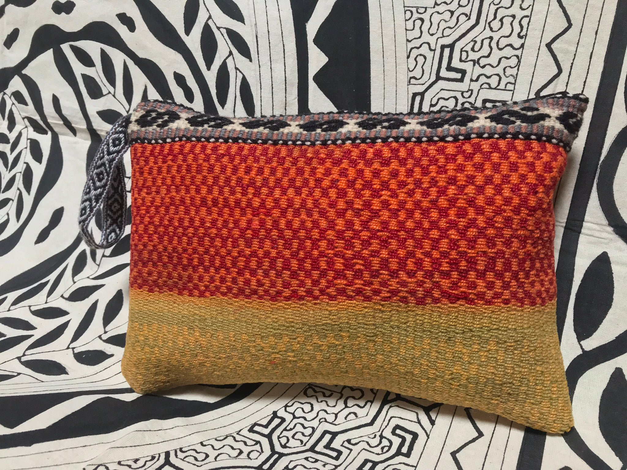 Large Fair Trade Upcycled Andean Woven Bag