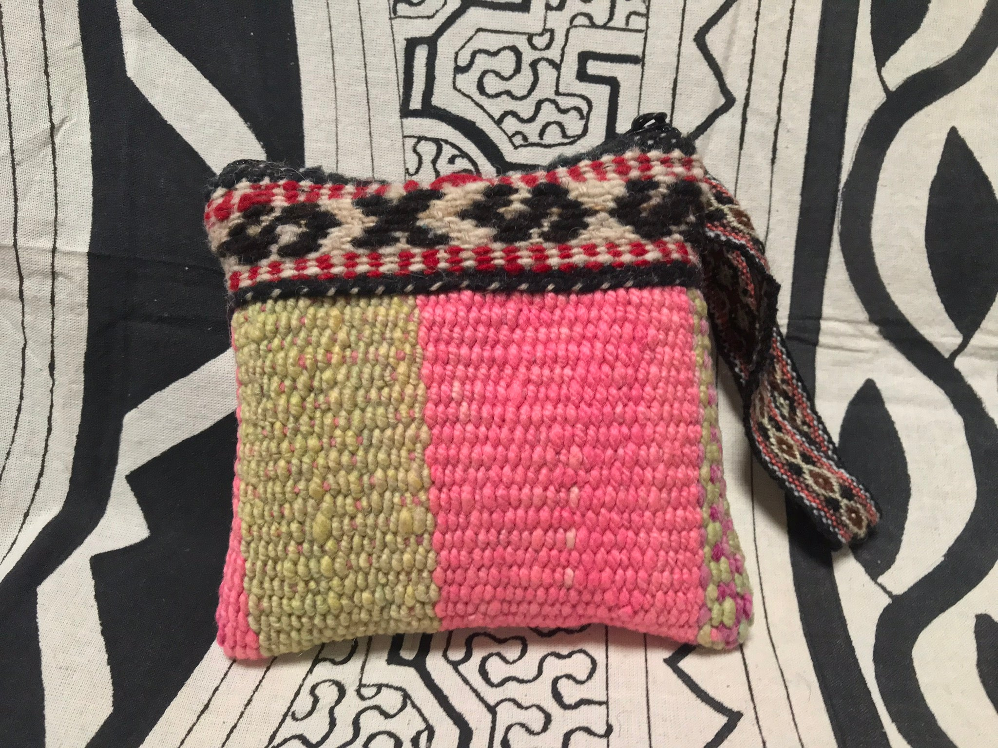 Mini Fair Trade Upcycled Andean Woven Pouch