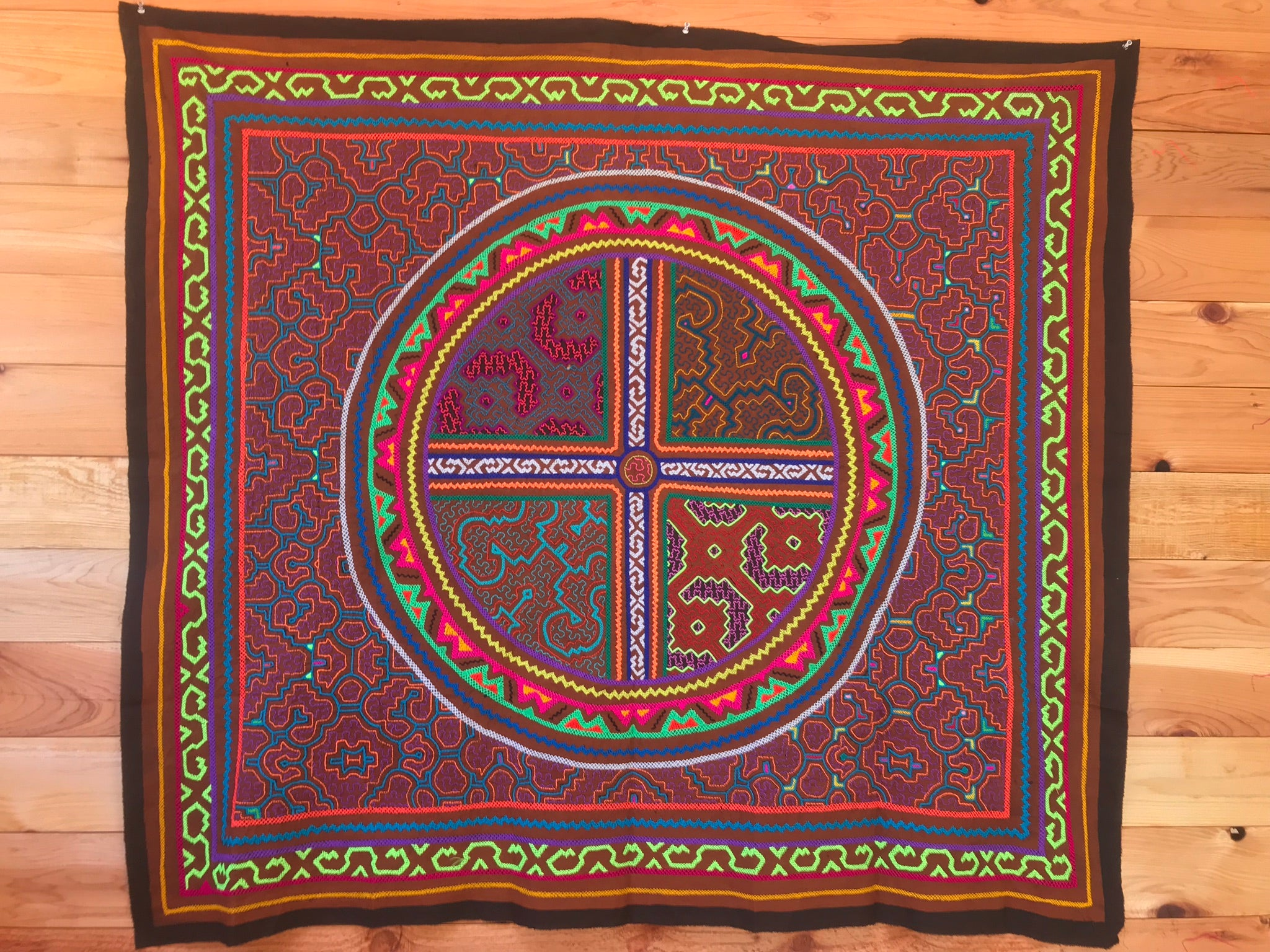 """Four Part Harmony"" Shipibo Tapestry"