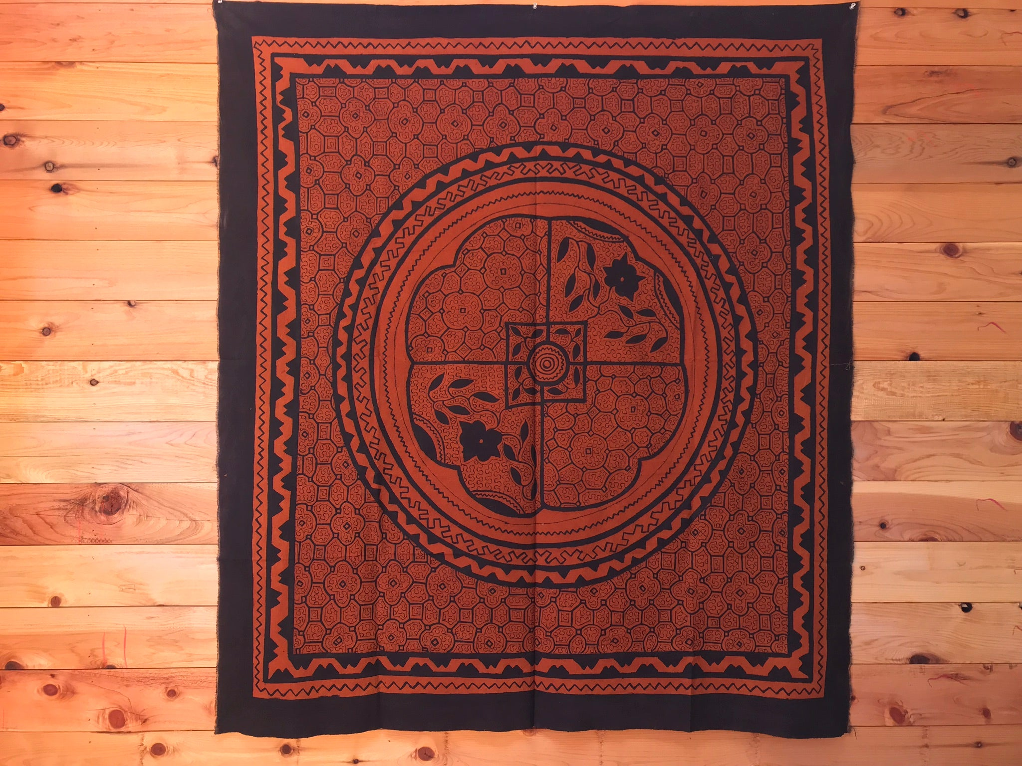 """The Rooted Realms"" Shipibo Tapestry"