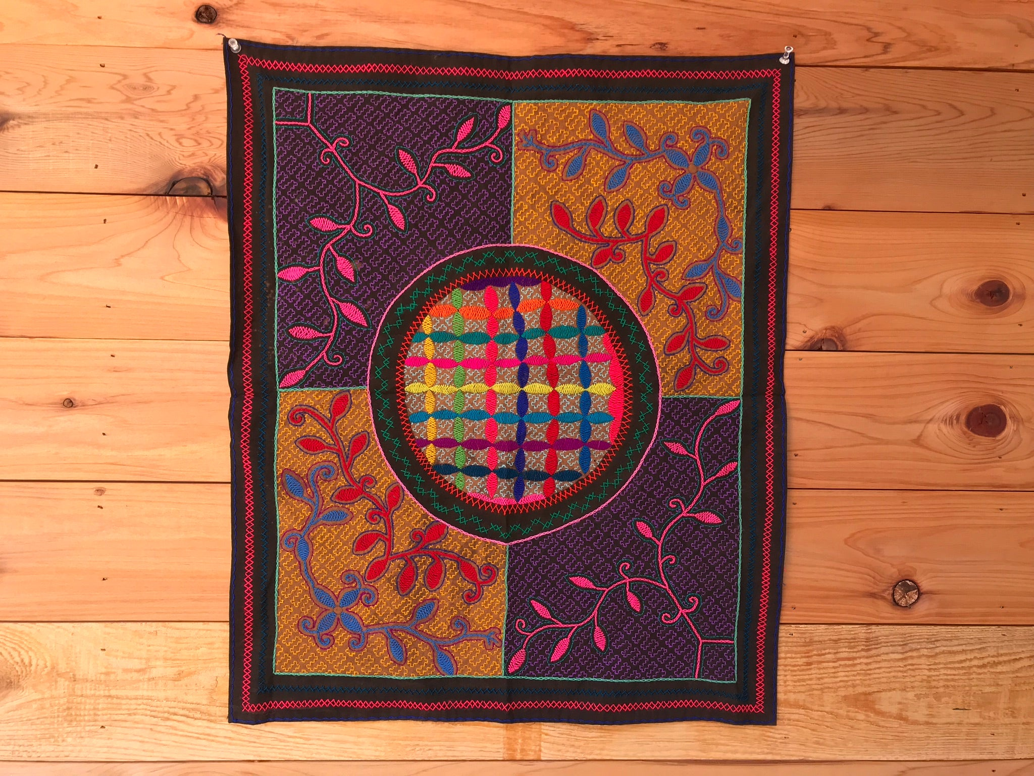 """Parallel Nature"" Shipibo Tapestry"