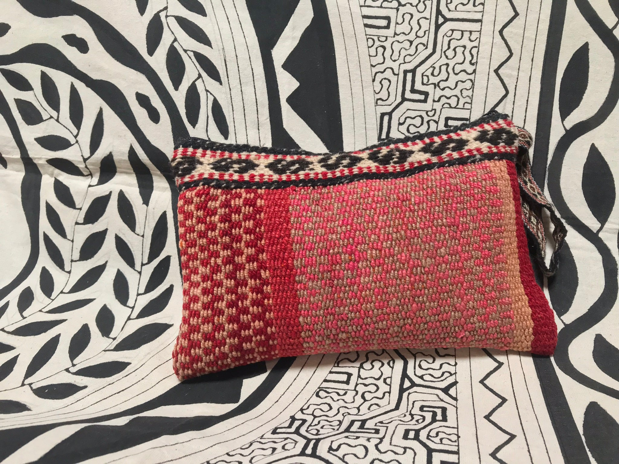 Medium Fair Trade Upcycled Andean Woven Pouch
