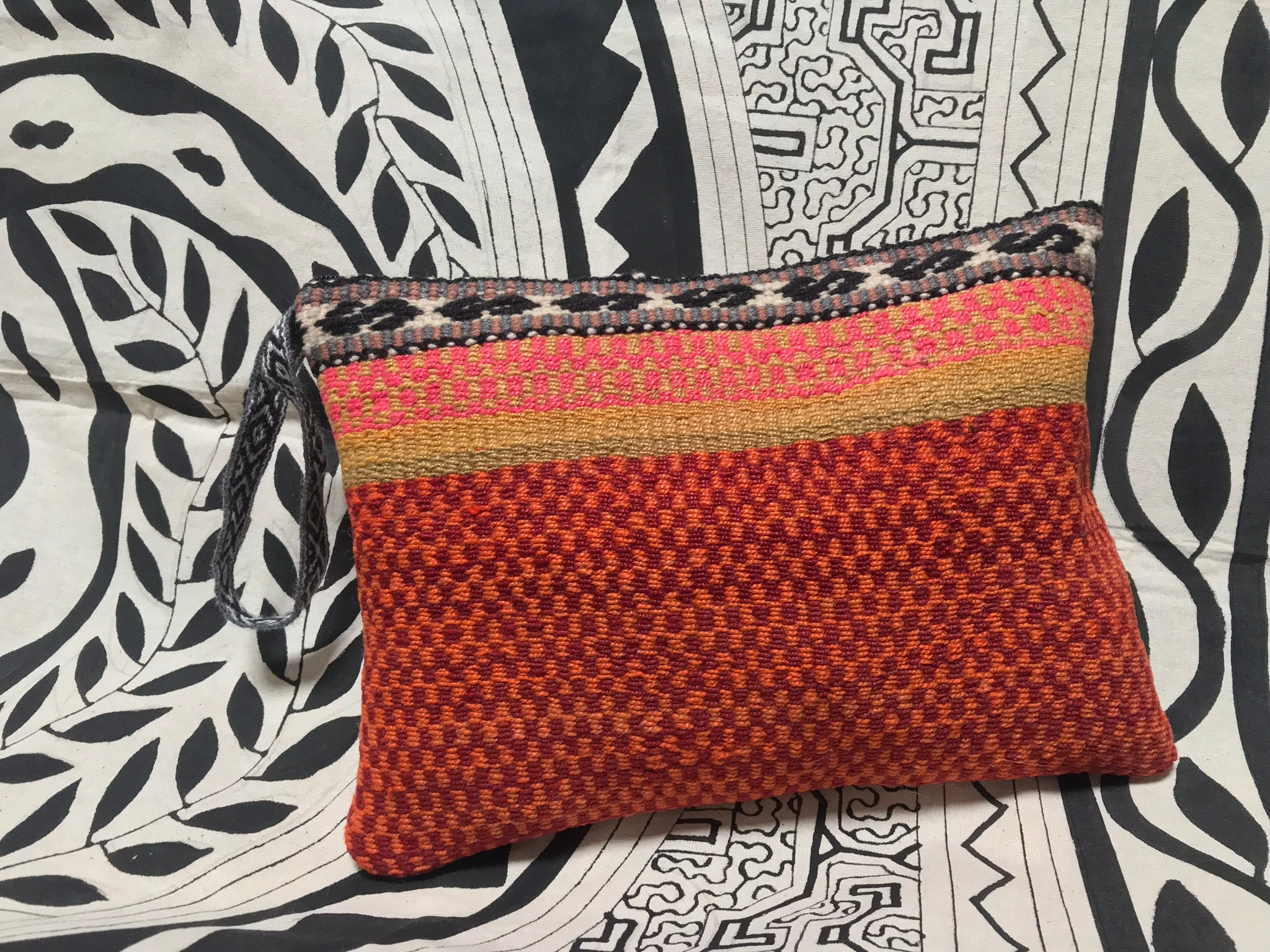 Large Fair Trade Upcycled Andean Woven Pouch