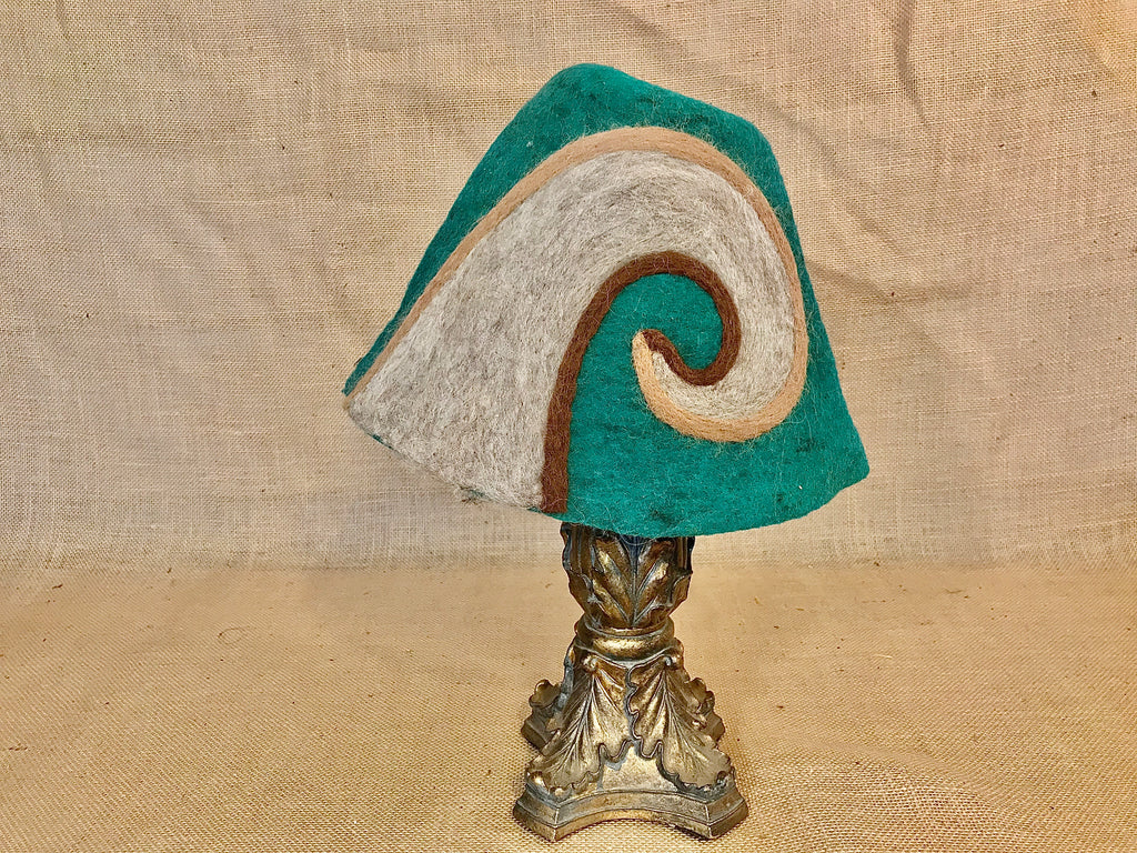"""Of The Earth Satyr Horns"" Wool Felt Gnome Hat"