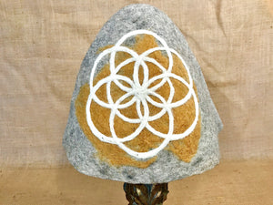 """Flower of Life Burst"" Wool Felt Gnome Hat"