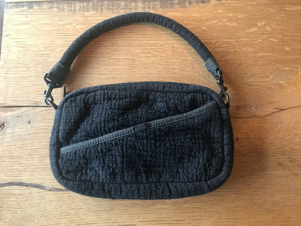 Porter Classic SASHIKO SHOULDER BAG - BLACK