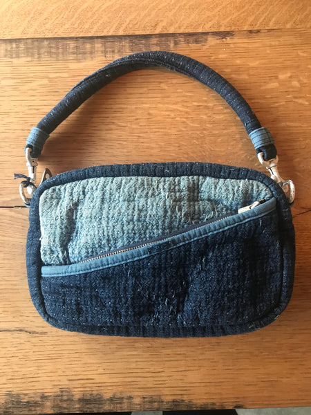 Porter Classic SASHIKO SHOULDER BAG - NEW BLUE