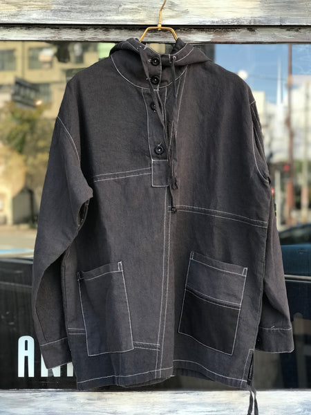 《the works》Linen remake parka 5
