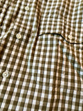 Porter Classic ROLL UP TRICOLOR GINGHAM CHECK SHIRT -GOLD-