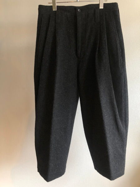Porter Classic   WOOL & GAUZE WIDE PANTS
