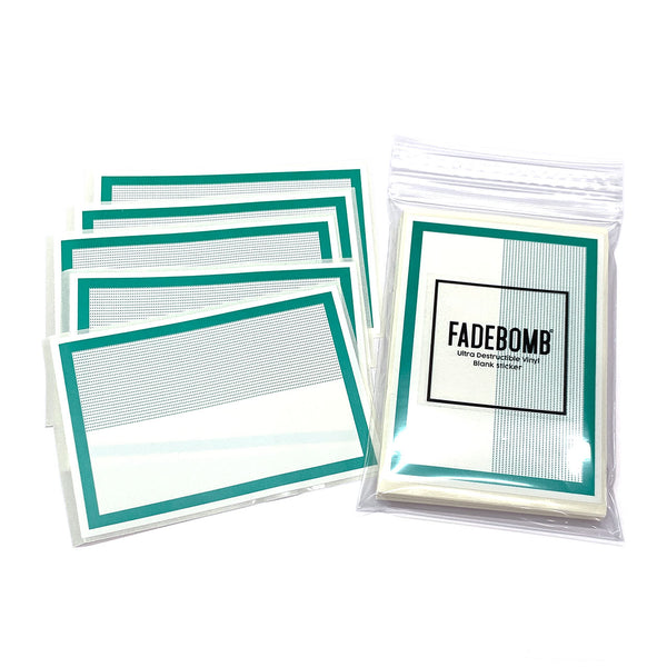 50 FADEBOMB Dot border eggshell sticker - GREEN