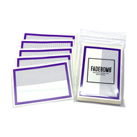 50 FADEBOMB Dot border eggshell sticker - PURPLE