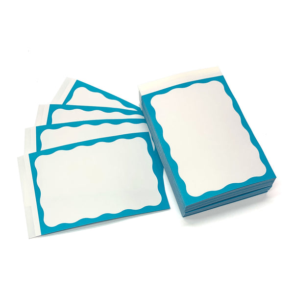 200 W-SIDE TEAL BORDER STICKER