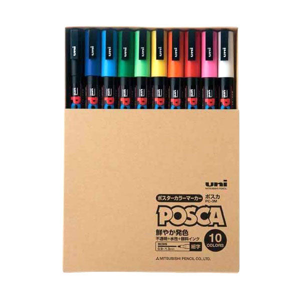 UNI POSCA -Fine- PC3M 10 color box