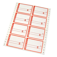 120 Japan mailing label (84mm×59mm) - 8 RED -